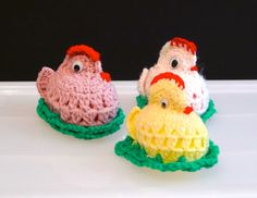 Chick amigurumi Easter chicks amigurumi Crochet Chicken Crochet Easter Egg Easter Basket Holiday decor spring vintage FREE Ship
