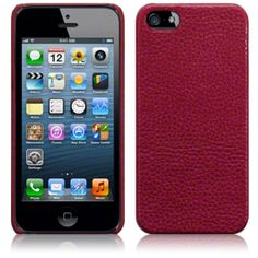 iPhone 5 Covert Leather Back Cover - Red £9.99