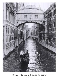 Venice Canal My kitchen and living room theme will be Italian style. I liking this picture. Love black and white pic's.