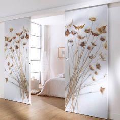 5 reasons to adopt sliding doors in the house Wardrobe Door Designs, Wardrobe Design Bedroom, Closet Designs, Bedroom Decor, Interior Door, Interior Design, Room Deviders, Deco Cool, Room Partition Designs