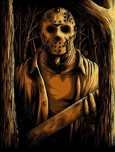 Matthew Johnson Friday the Welcome To Camp Crystal Lake Prints Jason Voorhees, Horror Icons, Horror Films, Horror Movie Characters, Horror Villains, Slasher Movies, Horror Artwork, Creepy Horror, Classic Horror Movies