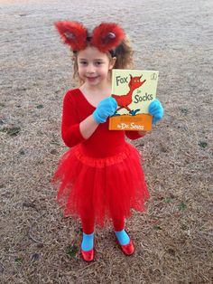 Dr. Seuss Fox in Socks Costume  sc 1 st  Pinterest & I made this cat in the hat shirt for a costume for my daughter | my ...