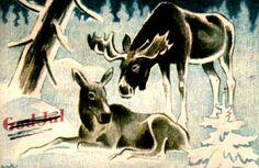 Julekort William Lunden utg Oppi brukt 1946