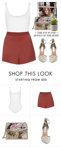 """""""- Not the only one -"""" by lolgenie ❤ liked on Polyvore featuring Wolford, Topshop, Gucci and Steve Madden"""