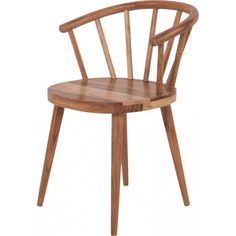 Shaker Style Acacia Wood Chair
