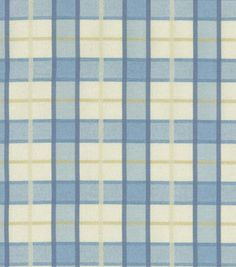 Upholstery Fabric-Waverly Courtship Plaid Chambray
