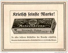 Original-Werbung/ Anzeige 1913 - KRIETSCH AEHRENKRONE BUTTER-KEKS  - ca. 115 x 80 mm