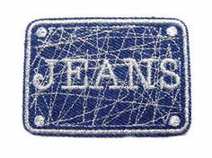 Applicatie jeans blauw