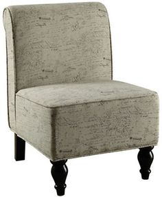 Monarch French Script Accent Chair