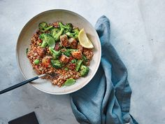 Bulgur is a great go-to grain because of its quick cook time and neutral flavor.