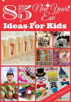85 New Years Eve Ideas for Kids! Also has New Year's traditions from around the world! New Years With Kids, Kids New Years Eve, New Years Party, New Year's Crafts, Holiday Crafts, Holiday Fun, Kids Crafts, New Year's Eve Celebrations, New Year Celebration