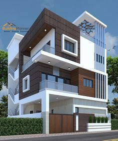 Modern House Elevation Designs In Bangalore. 20 Modern House Elevation Designs In Bangalore. 3 Storey House Design, Bungalow House Design, House Front Design, House Design Plans, 3d House Plans, Duplex House Plans, Best Modern House Design, Modern Exterior House Designs, Modern Bungalow Exterior