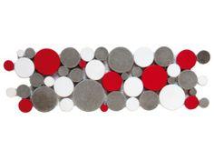 pimi23 frise galet rond blanc gris rouge - Salle De Bain Frise Rouge