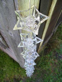 Glass Star Candleholder Rain Chain by SparkleUpcycledGoods on Etsy