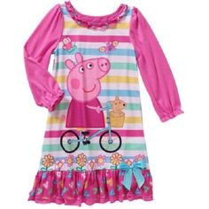Girls Peppa Pig Nightgown/Pajama Dress New with Tags!! Size 4T ~ Hard to Find!  #Nickelodeon #PajamaSet