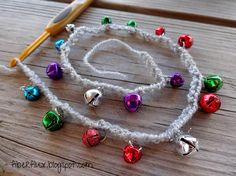Crochet Jingle Bell Garland - Tutorial ❥ 4U // hf