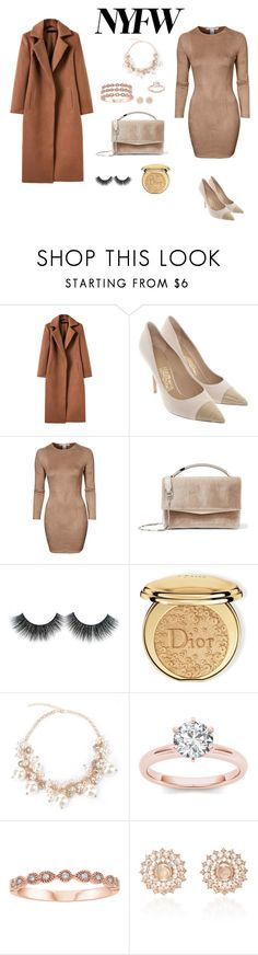 """NYFW"" by fatima-263 ❤ liked on Polyvore featuring Salvatore Ferragamo, NLY Trend, Eddie Borgo, Christian Dior, Nam Cho and NYFW"