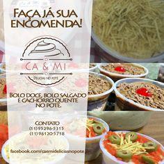 Anúncio para Facebook da empresa Ca&Mi Delícias no pote
