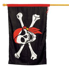 "$10.50 - 37"" x 2"" =  Pirate Flag - OrientalTrading.com"