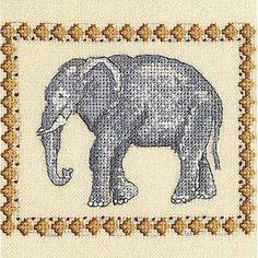 Elephant Cross Stitch Chart by DMC