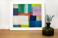 Framed Colourful Abstract Acrylic Painting on by MoniqueTyacke, $50.00