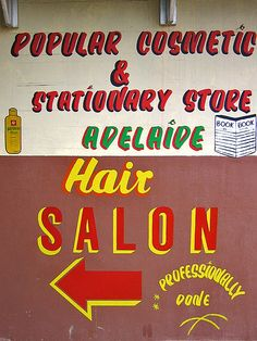 South African painted sign.