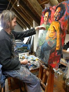 Wilko Roon Art Atelier D Art, South African Artists, Art Studios, Artsy Fartsy, Spaces, Creative, People, Crafts, Painting
