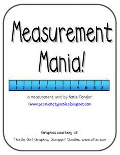 Measurement unit (42 pages - printables)- this is AMAZING for measurement unit