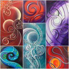 Creative Intuitive from New Zealand Maori Symbols, Maori Patterns, Maori Designs, New Zealand Art, Nz Art, Maori Art, Sharpie Art, Arte Popular, Indigenous Art