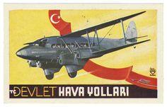 Devlet Hava Yollari (Luggage Label) by Artist Unknown | Shop original vintage #posters online: www.internationalposter.com