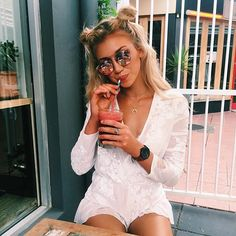 girl, hair, and blonde image Girls Tumblrs, Summer Outfits, Cute Outfits, Look Girl, Mode Inspiration, Fashion Inspiration, Cute Hairstyles, Short Summer Hairstyles, Ponytail Hairstyles