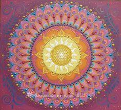 Sunmandala by Je - 2017 mandala with Flower of Life symbol