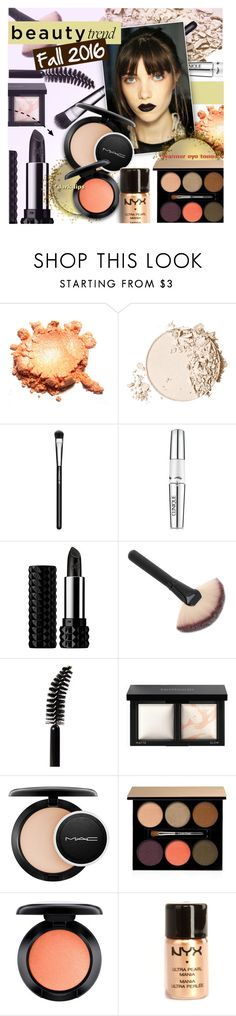 """Beauty Trend: Dark Lips"" by stacey-lynne ❤ liked on Polyvore featuring beauty, Too Faced Cosmetics, MAC Cosmetics, Clinique, Kat Von D, LORAC, Bare Escentuals, Lancôme and NYX"