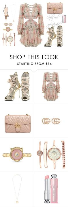 """Girly and sophisticated"" by luna-kat on Polyvore featuring Giuseppe Zanotti, Zimmermann, Gucci, Christian Dior, gucci, giuseppe and zimmerman"