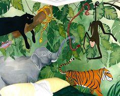 Children's Jungle mural