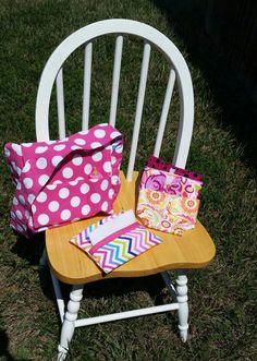 Pretend Play Diaper Bag Set Doll Diaper Bag by littlebettyhandmade