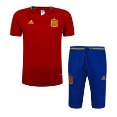 2016 Spain Soccer Team Red Soccer Replica Training Suit,all football shirts are AAA+ quality and fast shipping,all the soccer uniforms will be shipped as soon as possible,guaranteed original best quality China soccer shirts Soccer Uniforms, Football Shirts, Mon Cheri, Suit Shirts, Cool T Shirts, Spain Soccer, Equipement Football, Shops, Tracksuit Tops