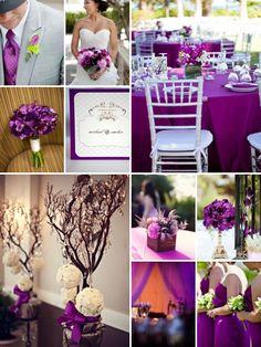 Purple Vision Board Themes Wedding Colors