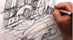 Syd Mead 02 on Vimeo Famous Artists Paintings, Syd Mead, Drawing Sketches, Sketching, Industrial Design Sketch, Artist Journal, Graphic Illustration, Concept, Sketchbooks