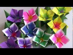 FLOR 4 PÉTALAS DE ORIGAMI. Mooie bloem, maar is een foute foto, video is prima en goed te doen.