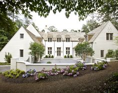 White brick + courtyard