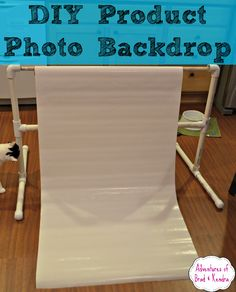 DIY Product Photo Backdrop - Inexpensive and Easy to make. #backdrop #photo