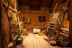 textile room at Lofotr Viking Center
