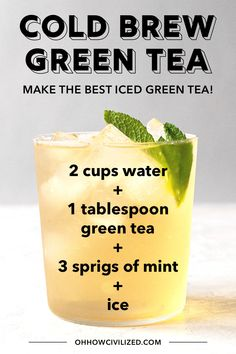 How to make cold brew green tea -- the perfect way to make i.- How to make cold brew green tea — the perfect way to make iced tea! Source by jwefferu - Cold Green Tea, Green Tea Drinks, Best Green Tea, Green Teas, Cold Drinks, Green Tea Recipes, Iced Tea Recipes, Coffee Recipes, Detox Recipes