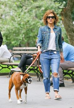 Jennifer Lopez in Double Denim