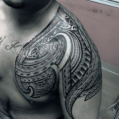 Discover complex traditional tribal ink with the top 90 best Samoan tattoo designs for men. Explore cool black ink patterns and manly inspiration. Polynesian Tribal Tattoos, Samoan Tribal, Samoan Tattoo, Word Tattoos, Tatoos, American Tattoos, Shoulder Tattoos, First Tattoo, Skin Art