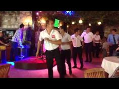 Kusadasi- Planet Yucca Guys entertaining with their dancing to the ever popular Tom Jones song 'Sex Bomb'