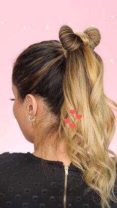 Bandana Hairstyles For Long Hair, Clip Hairstyles, Fast Hairstyles, Hairstyles With Ribbon, Hair Streaks, Hair Highlights, Shoulder Hair, Brown Blonde Hair, Grunge Hair