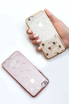 Glit Palm Trees Metallic Phone Cases!