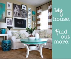 This is the blog that inspired the decor for my old house. Nesting Place Paint Colors & A Linky For Your Paint Colors